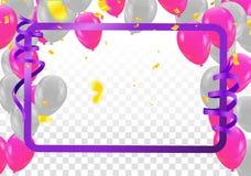 Progettazione del manifesto Modello del manifesto o dell'aletta di filatoio per i palloni di estate illustrazione di stock