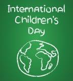 Progettazione del manifesto per l'illustrazione internazionale di giorno dei bambini illustrazione di stock