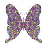 progettazione del materiale illustrativo del ricamo della farfalla per abbigliamento, vettore Immagini Stock Libere da Diritti
