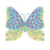progettazione del materiale illustrativo del ricamo della farfalla per modo che dura, grafico Fotografia Stock