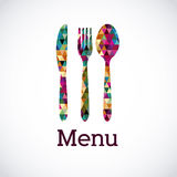 Progettazione del menu Immagine Stock