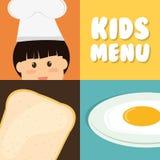 Progettazione del menu dei bambini Fotografia Stock Libera da Diritti