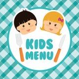 Progettazione del menu dei bambini Fotografie Stock Libere da Diritti