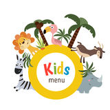 Progettazione del menu dei bambini Fotografie Stock
