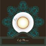 Progettazione del menu del caffè con una tazza e una mandala illustrazione di stock
