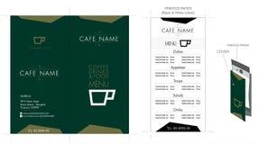 Progettazione del menu del caffè & del ristorante Fotografia Stock Libera da Diritti