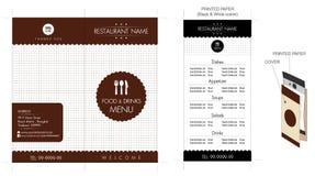 Progettazione del menu del caffè & del ristorante Fotografia Stock