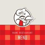 Progettazione del menu del cuoco unico Immagini Stock