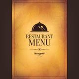 Progettazione del menu del ristorante Fotografie Stock