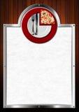 Progettazione del menu della pizza Fotografie Stock Libere da Diritti