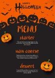Progettazione del menu di Halloween illustrazione di stock