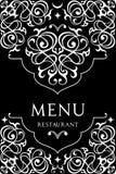 Progettazione del menu per il ristorante Fotografie Stock Libere da Diritti