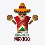 Progettazione del Messico Icona della cultura Illustrazione di Colorfull, grap Immagine Stock