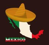 Progettazione del Messico Icona della cultura Illustrazione variopinta Fotografia Stock
