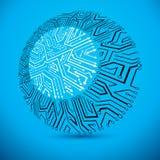 Progettazione del microchip di vettore, CPU Technolo di comunicazione di informazioni illustrazione vettoriale