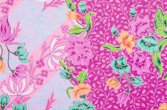 Progettazione del modello del batik del tessuto fotografie stock