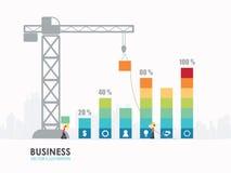 Progettazione del modello del grafico commerciale di Infographic Fotografia Stock Libera da Diritti