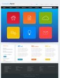 Progettazione del modello del sito Web Fotografia Stock