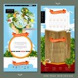 Progettazione del modello del sito Web della pagina di concetto uno di Eco illustrazione vettoriale