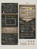 Progettazione del modello del sito Web della pagina di concetto uno di istruzione illustrazione di stock