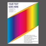 Progettazione del modello dell'aletta di filatoio dell'opuscolo dell'opuscolo del rapporto annuale illustrazione di stock