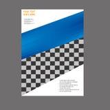 Progettazione del modello dell'aletta di filatoio dell'opuscolo dell'opuscolo del rapporto annuale Fotografie Stock