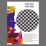 Progettazione del modello dell'aletta di filatoio dell'opuscolo dell'opuscolo del rapporto annuale Immagini Stock