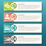 Progettazione del modello dell'etichetta di Infographic di vettore Fotografia Stock Libera da Diritti