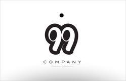 progettazione del modello dell'icona di logo di 99 numeri Fotografia Stock Libera da Diritti