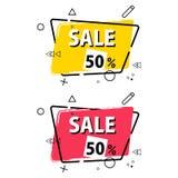 Progettazione del modello dell'insegna di vendita, offerta speciale di grande vendita Illustrazione di vettore Fotografie Stock