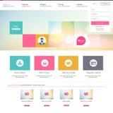Progettazione del modello dell'interfaccia del sito Web Vettore Fotografia Stock