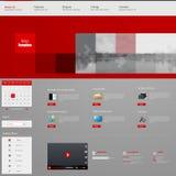 Progettazione del modello dell'interfaccia del sito Web Vettore Immagini Stock