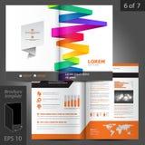 Progettazione del modello dell'opuscolo Immagini Stock