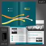 Progettazione del modello dell'opuscolo Immagine Stock
