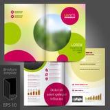 Progettazione del modello dell'opuscolo Immagine Stock Libera da Diritti