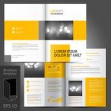 Progettazione del modello dell'opuscolo Fotografia Stock Libera da Diritti