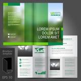 Progettazione del modello dell'opuscolo Fotografie Stock