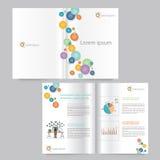 Progettazione del modello dell'opuscolo e del libro editable Immagine Stock