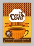 Progettazione del modello, dell'opuscolo o dell'aletta di filatoio del caffè Fotografie Stock Libere da Diritti