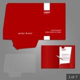 Progettazione del modello della cartella Immagine Stock Libera da Diritti