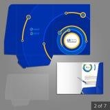 Progettazione del modello della cartella Fotografia Stock
