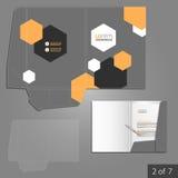 Progettazione del modello della cartella Immagini Stock