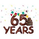 Progettazione del modello di anniversario della carta 65 di anniversario Fotografia Stock Libera da Diritti