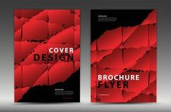 Progettazione del modello di copertura, aletta di filatoio dell'opuscolo di affari, rapporto annuale, annuncio di mgazine, pubbli illustrazione di stock