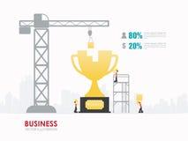 Progettazione del modello di forma dei trofei di affari di Infographic Fotografia Stock Libera da Diritti