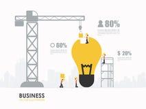 Progettazione del modello di forma della lampadina di affari di Infographic Immagine Stock Libera da Diritti