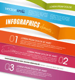 Progettazione del modello di Infographic Fotografie Stock Libere da Diritti