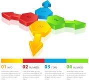 Progettazione del modello di Infographic Fotografie Stock