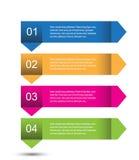 Progettazione del modello di Infographic Fotografia Stock