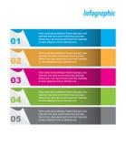 Progettazione del modello di Infographic Fotografia Stock Libera da Diritti